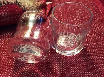 A pair of Jura whisky glass tumblers, Father's Day Gift