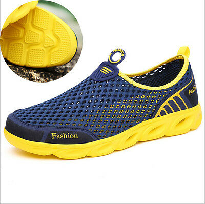 Men's Sneakers Water Shoes Mesh Slip On Casual Shoes Non Slip Beach Shoes