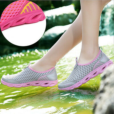 Women Sneakers Water Shoes Mesh Slip On  Beach Shoes Casual Shoes Non Slip
