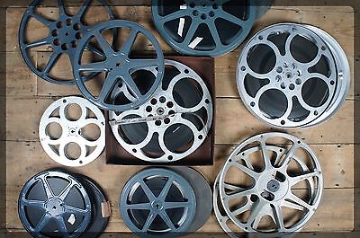 Collection of Ten 16mm Metal Film Reels Cyldon Cecol MGM - Vintage Projector