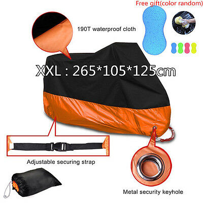 Outdoor Waterproof UV Protector Nylon Scooter Rain Dust Motorcycle Cover XXL