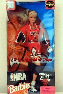 NBA Chicago Bulls 1998 Barbie Doll Basketball Collectible - NEW IN BOX