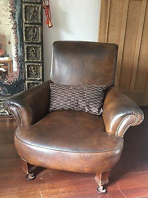 2 x Leather Armchairs