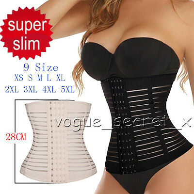 Women Steel boned Waist Training Cincher Underbust Corset Body Shaper XS S -5XL