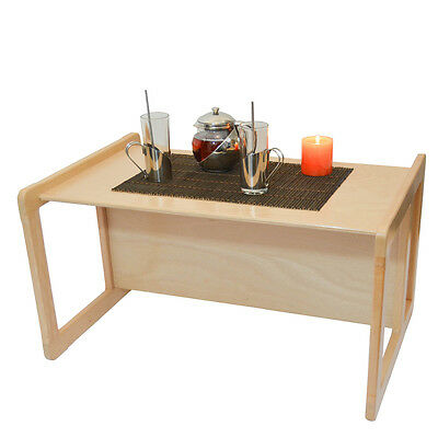 3 in 1 Adults Multifunctional Furniture1 Large Coffee Table Beech Wood Light