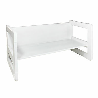 3 in 1 Childrens Furniture 1 Small Table or Bench White Stained