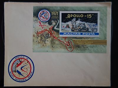 Vintage 1971 Apollo 15 Hungarian  First Day Cover