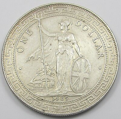 GREAT BRITAIN -  BRITISH ONE TRADE DOLLAR SILVER COIN dated 1929
