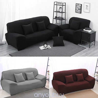 1 2 3 Seat Sofa Cover Slipcover Stretch Elastic Couch Furniture Protector Fit AK