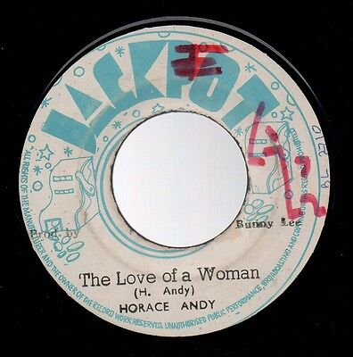 """♫  Roots Reggae - Horace Andy - The Love Of A Woman - Jackpot Ja 7"""" ♫"""