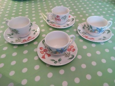 Wedgwood Passionbird Cups and Saucers x 4