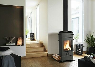 invicta contemporary Remilly multifuel stove fire woodburner airwash 4-7kw new