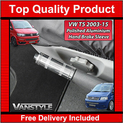 Vw T5 Transporter Caravelle 03-15 Aluminium Hand Brake Parking Textured Polished