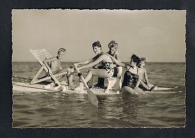 FOTO vintage PHOTO, Frau Bademode Strand, swimwear woman beach, plage femme /46a
