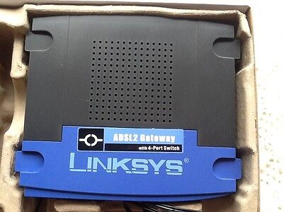 Cisco Linksys AG241 ADSL2 Modem Router With 4 Port Switch - With AC Adapter