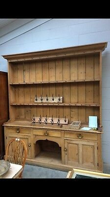 Antique 19thC Victorian Pine Large Kitchen Dresser 'Stunning' (Will Deliver)
