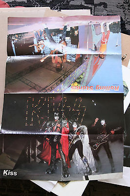 Kiss Led Zeppelin Rolling Stones Queen Poster 80x58 cm