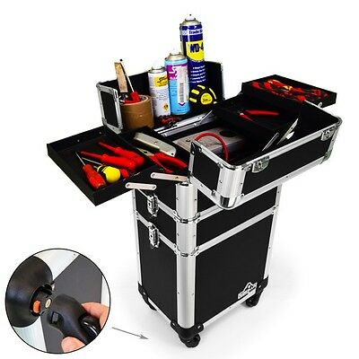 Gorilla Mobile 3-in-1 Builder / Electrician / Garage Tool Box Case Trolley