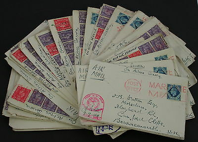 1944 WWII on active service mail with HM ships censor marks. From our stock