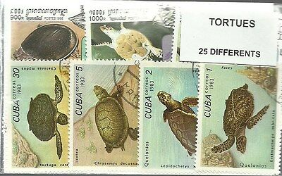 """Lot timbres thematique """" Tortues"""""""