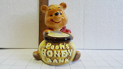 Winnie The Pooh Coin Bank Pooh's Honey Bank Disney Made In Japan 1960's