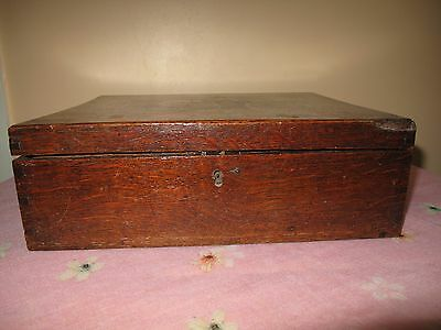 Antique Victorian Large Jewelery Wooden Box with Tray