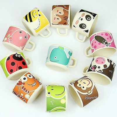 Random Pattern Safe Kid Handle Baby Drinkware Drinking Tool Bamboo Cups