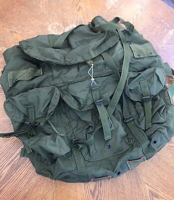 1980s US MILITARY Issue LC-1 ALICE Nylon EF Combat Field Pack Backpack Large