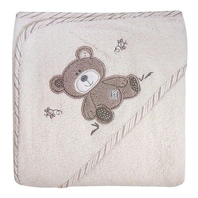 B is for Bear Large Hooded Soft Bath Towel, Newborn Baby Cotton Robe