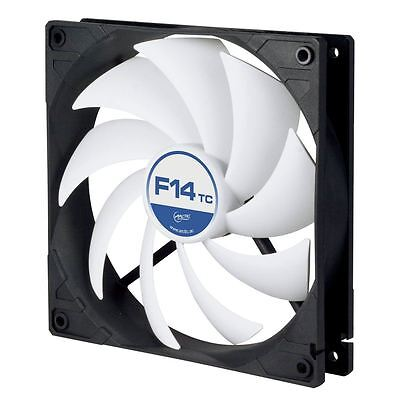 Arctic F14 TC 140mm PC Case Cooling Fan Temperature Controlled Silent/Quiet