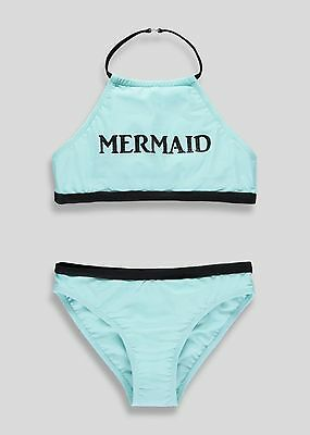 Gorgeous Girls Mint Green Mermaid Halterneck Bikini Swimwear  Age 9 To 13