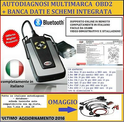 DIAGNOSI 2016 Snooper Bluetooth Diagnostic Tool per AUTO E CAMION + ADATTATORI