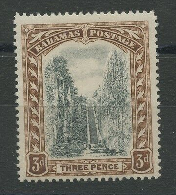 Bahamas SG77 1919 Queens Staircse 3d black and brown Mounted mint (hinge still o