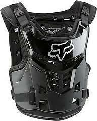 NEW 2017 Fox Racing Proframe LC Chest Protector Black Roost Guard SM/, L/XL
