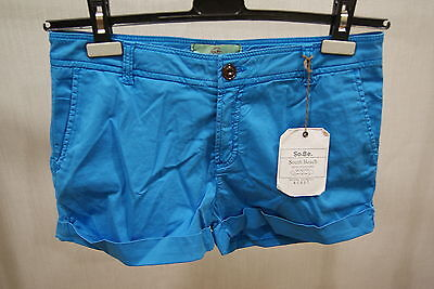 South Beach Chino Short Alena Blue 26 27 29 Trousers Bermuda Women New Summer