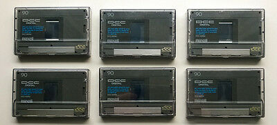 6x Maxell DCC-90RM Tapes C90 Cassette DCC Digital Compact Cassette Made in Japan