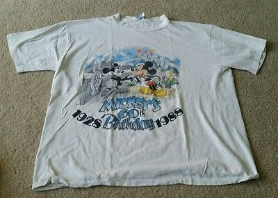 Vintage 1987 MICKEY MOUSE 60th Birthday (XL) T-Shirt STEAMBOAT