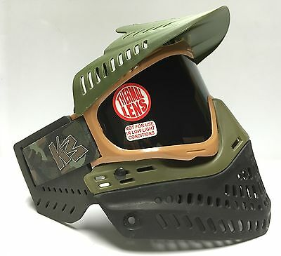 NEW JT Proflex OG Olive Brown Thermal Spectra Paintball Mask Goggle KM Strap