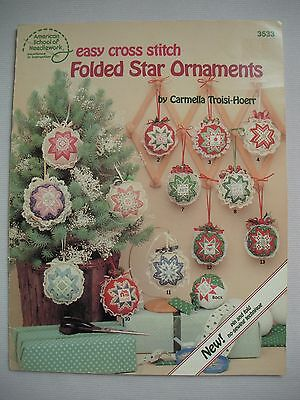 Folded Star Ornaments - Easy Cross Stitch Pattern Book