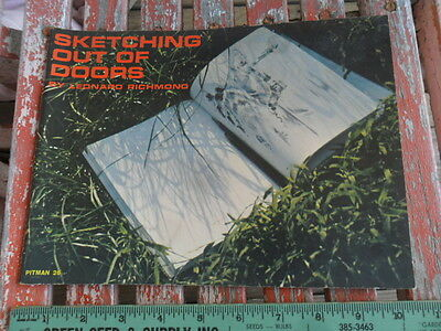 1954 Sketching Out of Doors by Leonard Richmond - Pitman - Art Painting