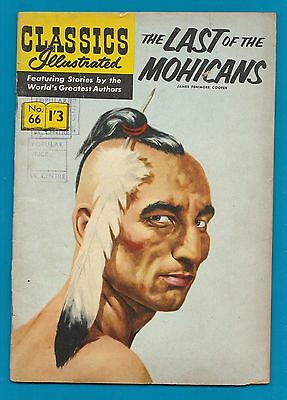 Classics Illustrated Comic The Last of the Mohicans  # 66.   #462
