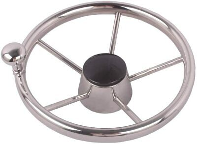 11'' Boat Stainless Steel Steering Wheel with Knob for Marine Yacht 19mm
