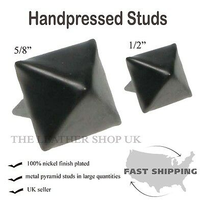 New Black Pyramid Metal Studs Punk Leather Craft Shoe Cloth Accessory UK Seller