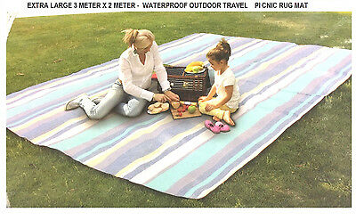 Extra Large 300Cmx200Cm - Waterproof Foldable Outdoor Travel Picnic Rug Mat
