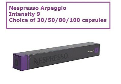 30 50 80 100 Capsules Nespresso Coffee Arpeggio Intensity 9 Popular Pods