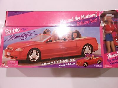 Mattel Barbie Me and My Mustang Doll & Car 1994 11929 13744 NRFB NEW Gift Set