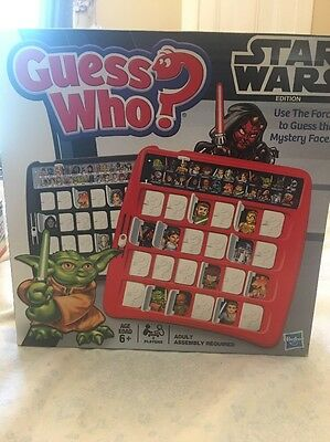 Guess Who? Star Wars Edition Hasbro COMPLETE, Memory Matching Board Game