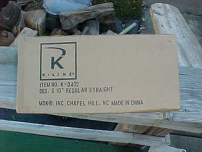 "brand new k-line ""S"" scale..am. flyer track..k-0432..20 sections of 10"" straight"