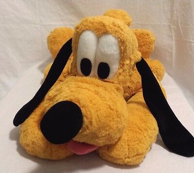 Disney Pluto Plush Stuffed Toy- Laying down with collar- DISNEYLAND original 23""
