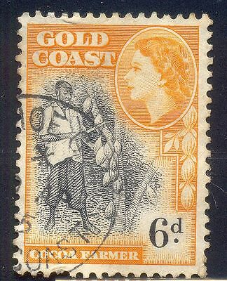 Gold Coast 6D Used Stamp A7208 Cocoa Farmer Queen Head